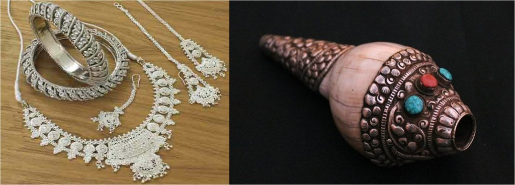 Destination Wedding in Himachal Pradesh: Himachali Jewely & handicrafts from Dalhousie local market as wedding favours.
