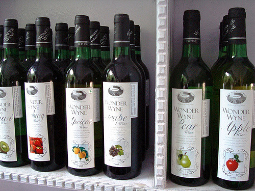 A collection of Kasauli's Local Fruit Wine