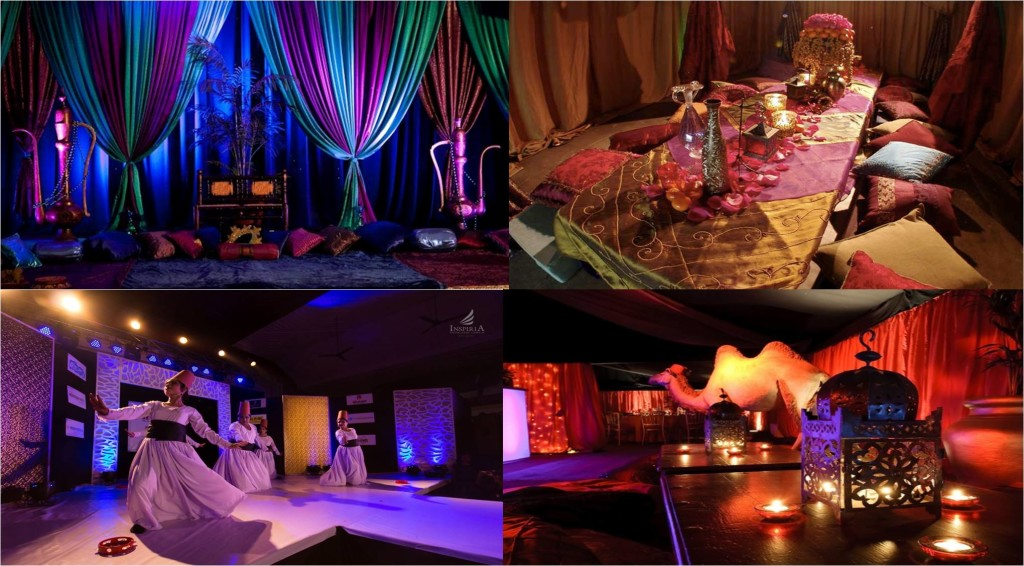 Wedding decor theme theme wedding planner new delhi for Arabian nights decoration ideas