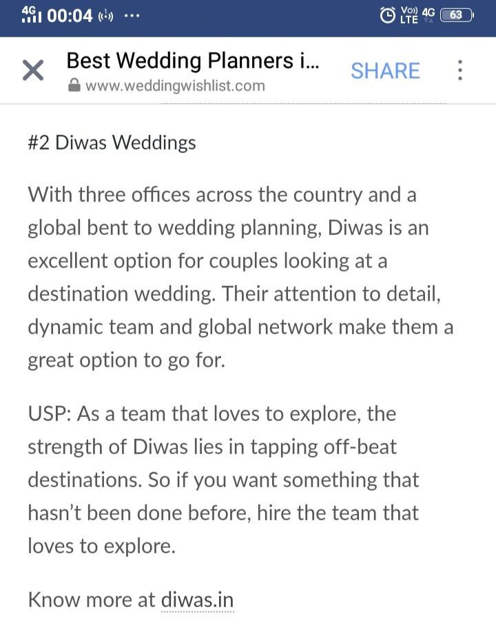 Wedding Wishlist - Best wedding planners 2019