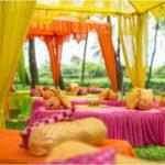 Mehendi: Canopies, seating, cushions, props