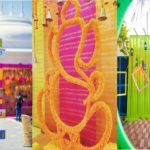 Mehendi: Directional sign, entrance decor, props