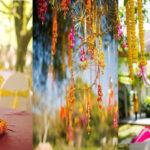 Mehendi: Table centerpiece, florals, props