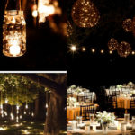 Reception: Mason jar lighting