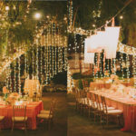 Reception: Table setting, lights, lanterns
