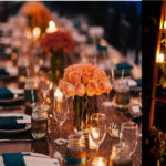 Reception: Table centerpiece, props, lights