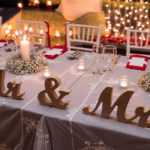 Reception: Bride & Groom table decor