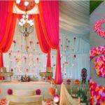Wedding: Mandap, floral aisle, seating, lighting