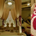 Wedding: Mandap, floral aisle, seating, florals,
