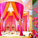 Wedding: Mandap, floral aisle, seating, lighting